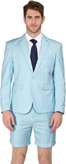 MAGE MALE Men's Summer Suit 2 Piece Suit Cause Blazer and Breathable Shorts
