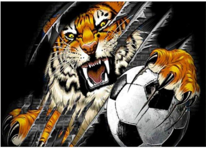 ahorra hasta un 70% XIGZI 5D DIY Tiger Imagen de Fútbol Bordado Etiqueta de de de La Parojo Patrón Pintura Diamante Punto de Cruz Sin Marco  opciones a bajo precio