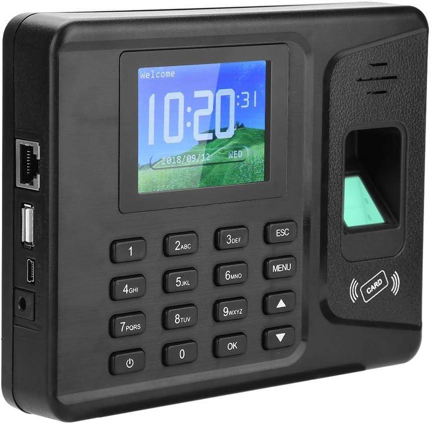 der Recorder eincheckt Denash Fingerabdruck-Recorder-Anwesenheits-2,8-Zoll-TFT-LCD-Bildschirm EU-Stecker biometrischer Anwesenheits-System-USB-Stempeluhr-Karten-Maschinen-Angestellter