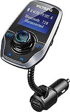 VICTSING Transmetteur FM Bluetooth Adaptateur Bluetooth Autoradio Kit Voiture Main-libre Sans Fil Adaptateur Radio avec Double Port USB 5V/ 2.1A et Port Audio 3,5mm(Gris)