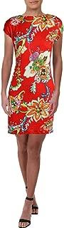 Women's Petite Floral Print Midi Shift Dress