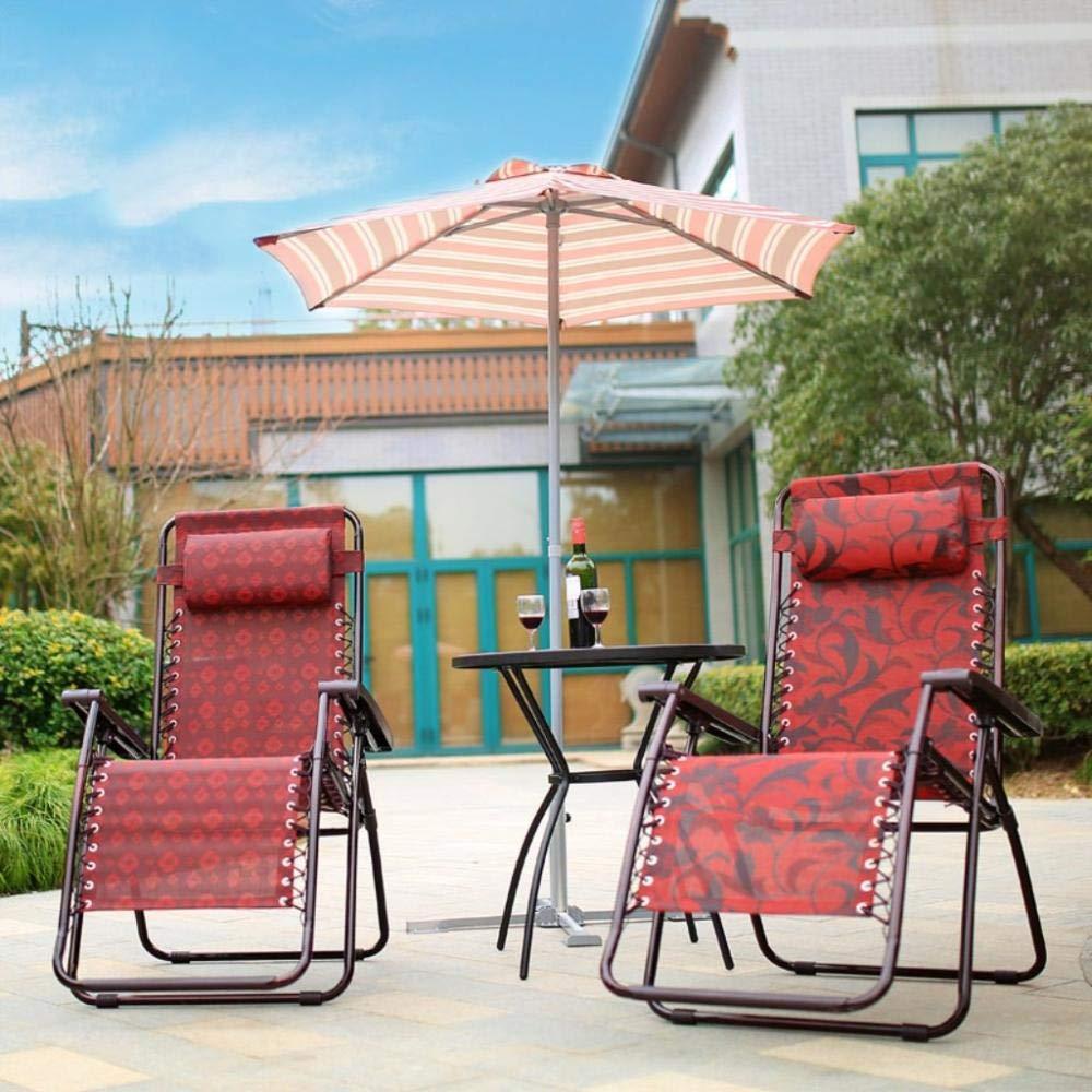 LJLDP Tumbona reclinable Plegable de Gravedad Cero para Playa, Patio, jardín, Camping al Aire Libre: Amazon.es: Jardín