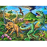 Puzzles for Kids Ages 4-8 Year Old,100 Piece Dinosaur Jigsaw Puzzle for Toddler Children Learning Educational Puzzles Toys for Boys and Girls