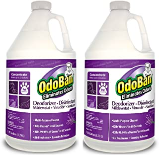 OdoBan 11162 Odor Eliminator and Disinfectant Concentrate, Lavender 2 Gallons Professional Series