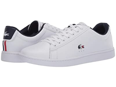 Lacoste Carnaby Evo TRI 1 (White/Navy/Red) Women