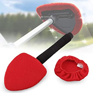 Sporacingrts Window Cleaning Tool with Windshield Wiper with Retractable Handle Detachable and Easy to Use
