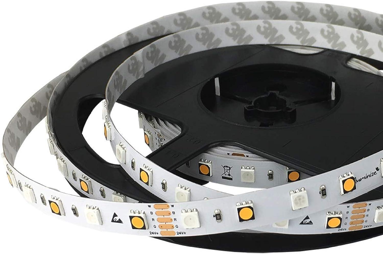 Iluminize LED-Streifen RGB+W  sehr hochwertiger LED-Streifen RGB+W (2700K Ra 95) mit 60 LEDs pro Meter, hoch selektiert, 24V, 16,5W pro Meter (IP65 NANO Rolle 5m)