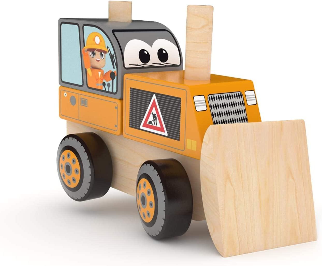 J'adore Bulldozer Wooden Choice Stacking Nashville-Davidson Mall Toy