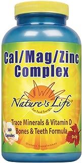 Nature's Life Cal/Mag/Zinc Capsules, 1000/500/15 Mg, 360 Count