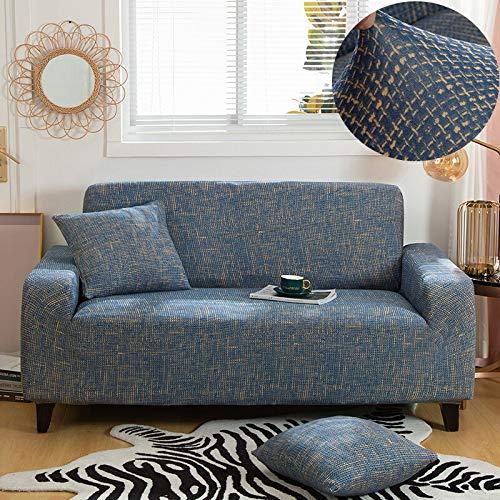 Funda de sofá con patrón de Costura geométrica y de Color, Utilizada para la Toalla del sofá de la Sala de Estar, Funda para Mascotas, Funda de sofá elástica A5 de 3 plazas