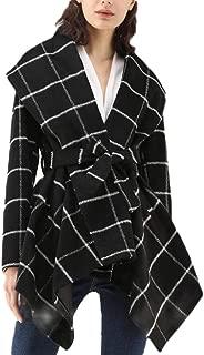 Women's Long Sleeve Lapel Woolen Jacket Irregular Hem Autumn and Winter Pea Coat