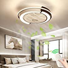 Invisible Fan Ceiling Fan Adjustable Wind Speed Mute Fan Dimmable Modern Ceiling Lamp Bedroom Living Room Dining Room Ligh...