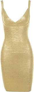 gold foil bandage dress