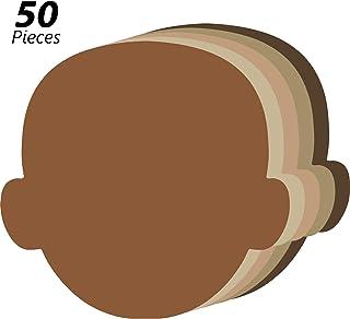 50 Piezas Recortes Creativos Multiculturales de Cara Recortes de Papel con Forma de Cara para Niño Diseño y Decoración, Proyectos de Grupo Artesanal, Proyectos de Manualidades de Niños, 5,5 Pulgadas