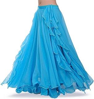 ROYAL SMEELA Bauchtanz Rock Gute Qualität Neues Damen Bauchtanz kostüm Damen Tanzen Ausbildung Chiffon Röcke Kleid Performance Bekleidung Flamenco Rock lang Maxirock Damen