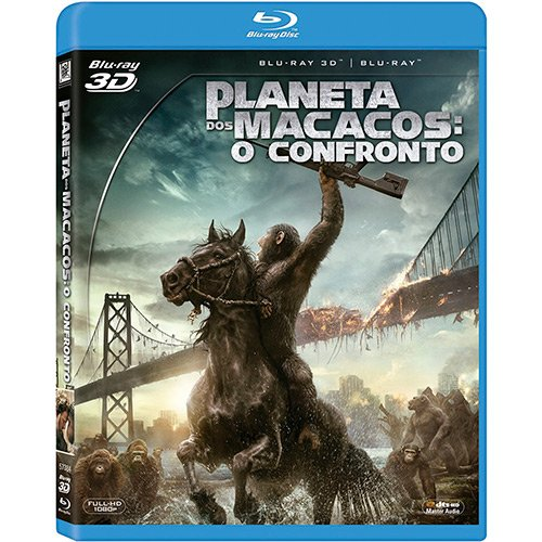 Blu-ray 3D Dawn of the Planet of the Apes [ Planeta dos Macacos - O Confronto ] [ Audio and Subtitles in English + Portuguese + Spanish ]