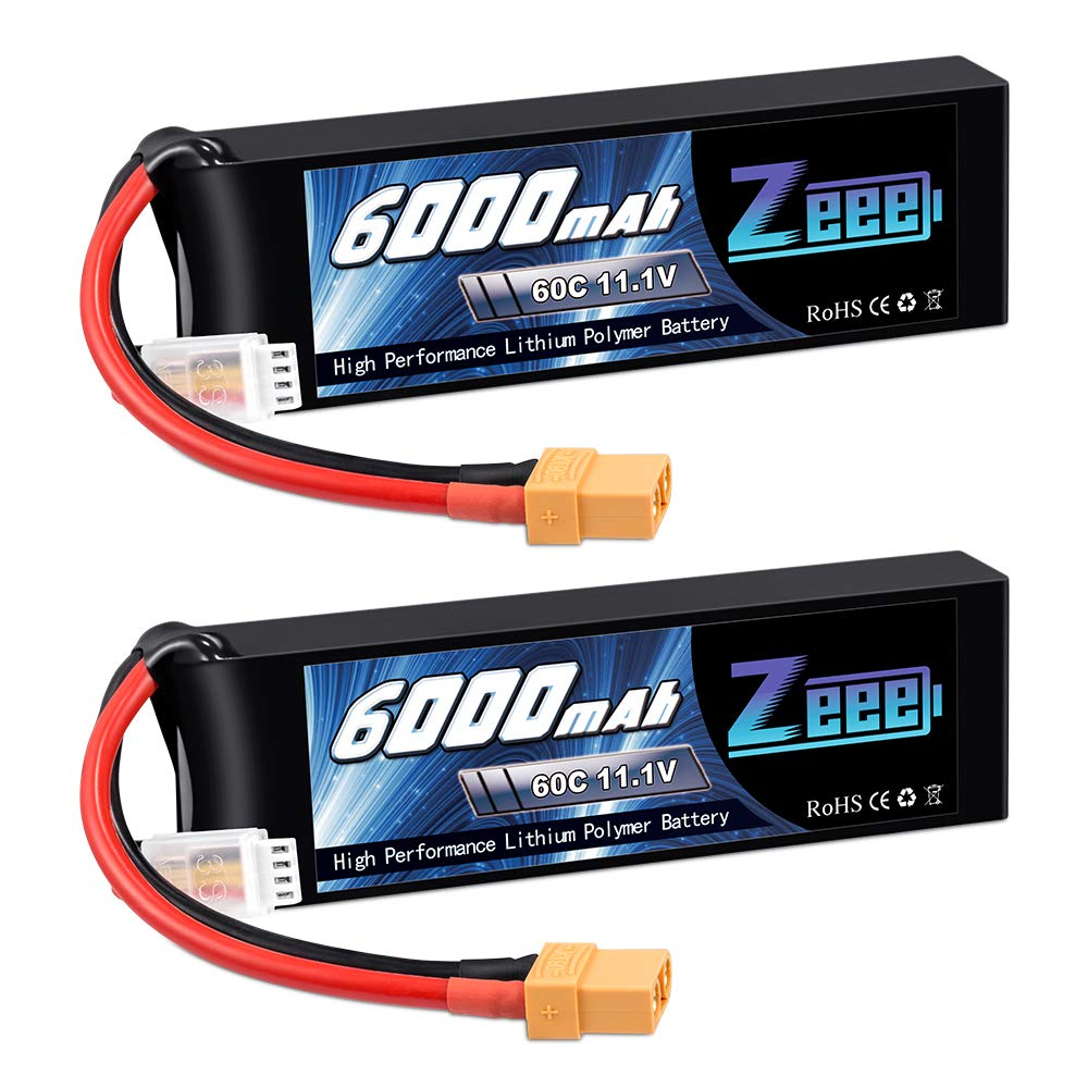 2 Baterias LIPO 11.1V 6000mah 60C 3S XT90 Plug Zeee