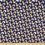 Windham Quilt Fabrics Sweet Oak Striped Pear Squirrels Navy