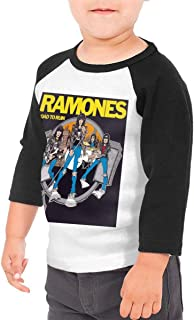 Black6Red Ramones Band Logo Childrens 3//4 Sleeve T-Shirt