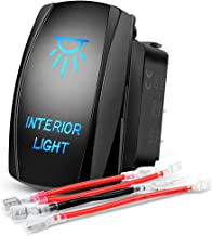 Nilight Interior Light Rocker Switch LED Light Bar 5Pin Laser On/Off LED Light 20A/12V 10A/24V Switch jumper wires set for Jeep Boat Trucks,2 years Warranty