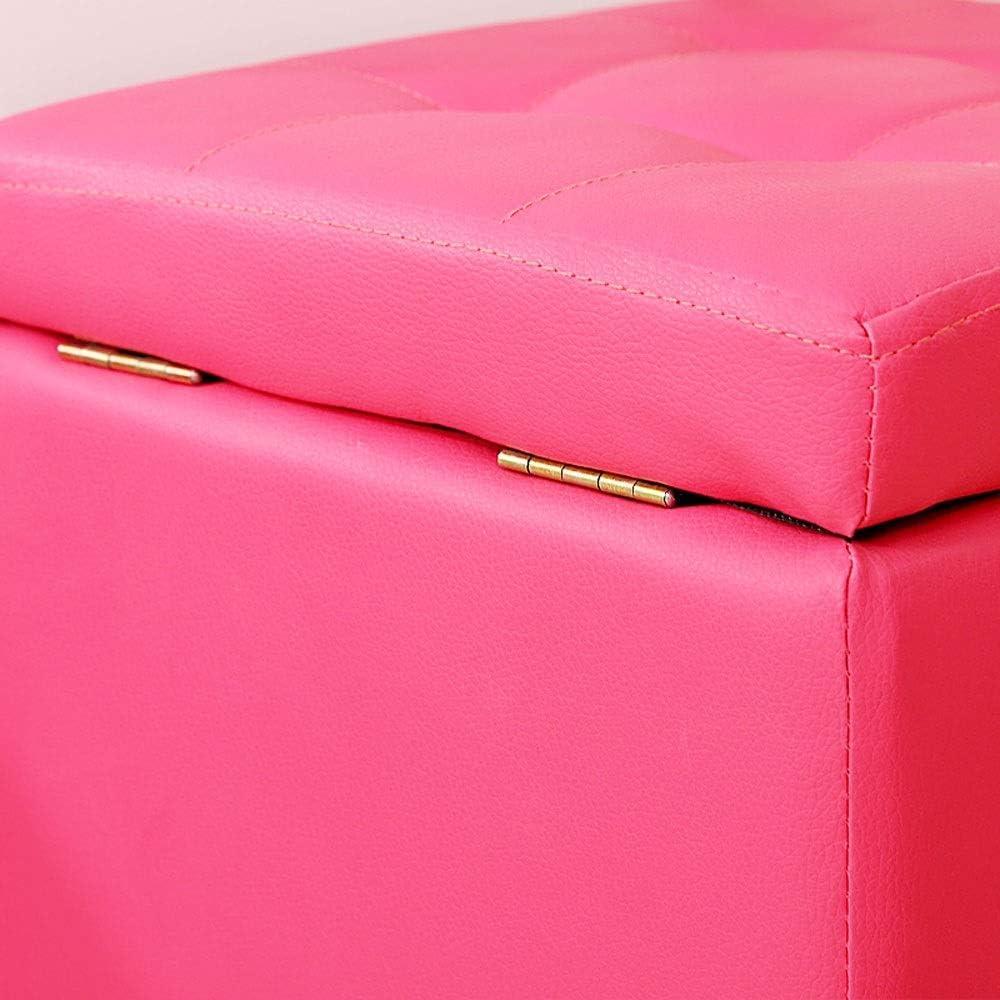 YUMUO Tabouret Pliant en Cuir Canapé Repose-Pieds Repose-Pieds Siège Lounge en Similicuir Repose-Pieds Maison Chambre Boîte De Rangement Chaise 30x30x35 cm F1218 (Couleur: Vert) 1