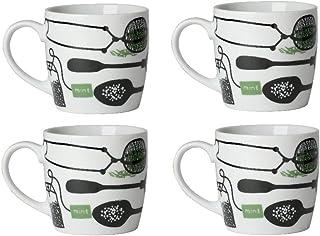 Now Designs Mugs, Cup Of Tea, Set of 4