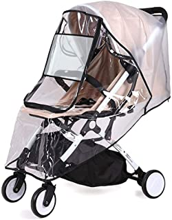 SlowTon Stroller Rain Cover Universal Size, Waterproof Dustproof Windproof Durable Protection, Travel-Friendly Stroller We...