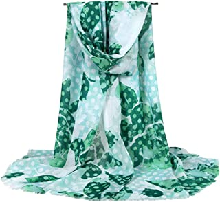 Women's Cotton Long Scarf Printed Wrap Spring and Summer Sunscreen Shawl Dual-use Scarves