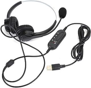 $25 » AMONIDA USB Call Center Telephone Communication Customer Service Wired Headset Earphone Headphone Noise Reduction Micropho...