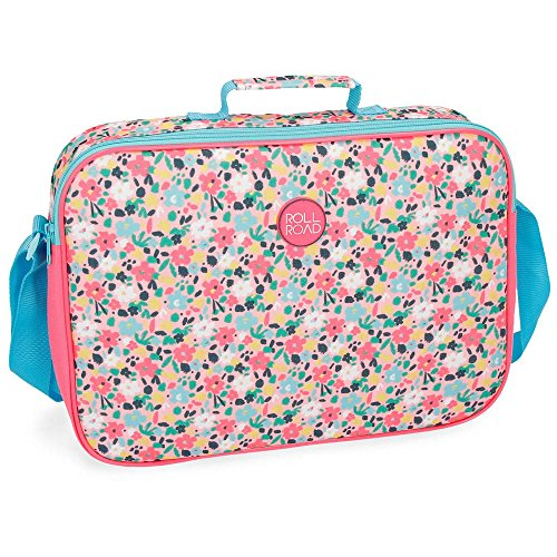Roll Road - Pretty Coral Mochila Escolar, 38 cm, 6.38 Litros, Multicolor