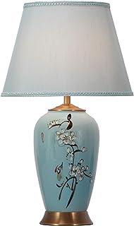 Fine Asianliving Lampe de Table Chinoise Lampes de Chevet Chinoise en Céramique Oriental Asiatique Jingdezhen Porcelaine A...