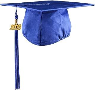 Matte Graduation Cap with Tassel 2017 Year Charm