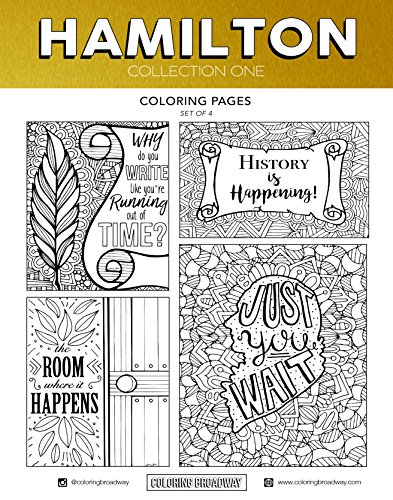 Coloring Broadway Hamilton Card stock Coloring Pages (8 1/2