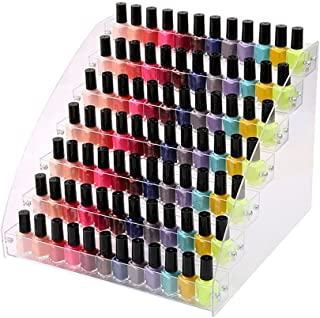 7 Tiers Acrylic Lipstick Holder Display Stands Essential Oils Nail Polish Rack Dropper Bottle Organizers Wide Tall Dresser Balls Commodity Goods Shelf for Store Shop Countertop Checkout Counter Case