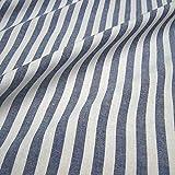 Stoff am Stück Stoff Baumwolle Bauernstreifen dunkelblau