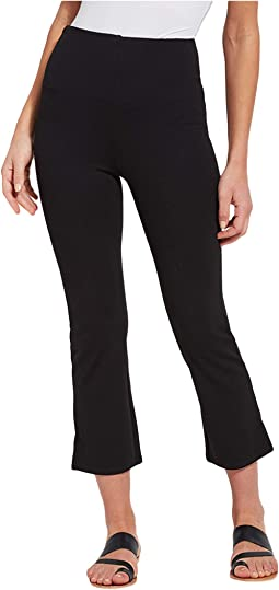 Cropped Kick Flare Pants in Lightweight Ponte