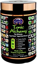 Dragon Herbs - Tonic Alchemy - Superfood Green Powder Blend - 9.5 oz - Made with Organic ingredients - 100% Vegan - Herbs, Probiotics, Vegetables, Fruits, Sprouts, Whole Grasses, Seaweed, Antioxidants