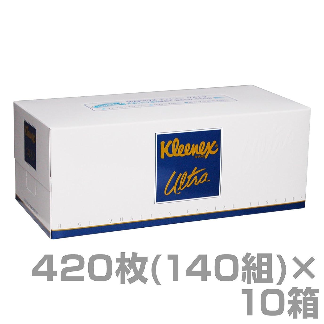 差別サンダー春クリネックス ティッシュペーパー ウルトラ ファミリーサイズ 420枚(140組)×10箱 48030