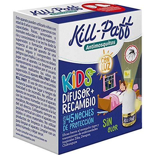 pequeño y compacto KILL-PAFF KIDS |  Insecticida eléctrico Anti-mosquitos |  Eficaz contra Aedes albopictus y transmisores …