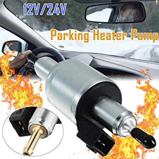 Leepesx Pompa di alimentazione elettrica universale 12V Pompa di carburante elettrica con uniconi di carburante e filtro in linea per motore a benzina diesel