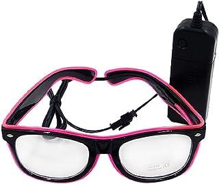 1f327a3fe9 UTOVME LED Gafas Luminosas con Alambre para Fiestas de Una Línea con Un  color - Rosa