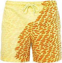 Mannen Zwembroek Color Changing Beach Shorts Sneldrogend Zwembroek Geel S