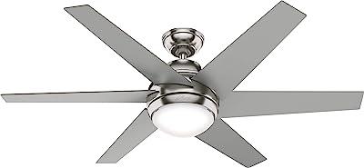 Hunter Fan Company 50976 Sotto Ceiling Fan, 52, Brushed Nickel