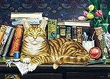 Rompecabezas de tulipán de gato de escritorio para niños y adultos, grandes pinturas intelectuales educativas, juego de rompecabezas, juguetes, regalo para juegos, decoración de la pared del hogar