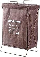 KONGUDSI Laundry Basket Sorter Storage Basket Iron Frame Folding Storage Basket Bathroom Waterproof Laundry Basket Sorter (Color : Brown)