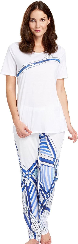 Feraud 318105710005 Women's Lac Bay White bluee Sleepwear Pyjama Pajama Set