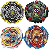 Hiash Burst Gyros Battling Top Battle Burst High Performance Set, Gaming Top Spinning Toy,Birthday Party School Gift Idea Toys for Boys Kids Children Age 6+, 4 Pieces Pack