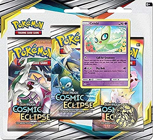 Pokémon POK82591 TCG: Sun & Moon 12 Cosmic Eclipse Blister 3er-Pack Display (eins nach Zufall)