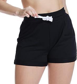 80e7afdb3a374 YOHOYOHA Women's Running Shorts Plus Size Workout Sport Fitness Athletic  Gym Shorts Elastic Waist with Drawstring