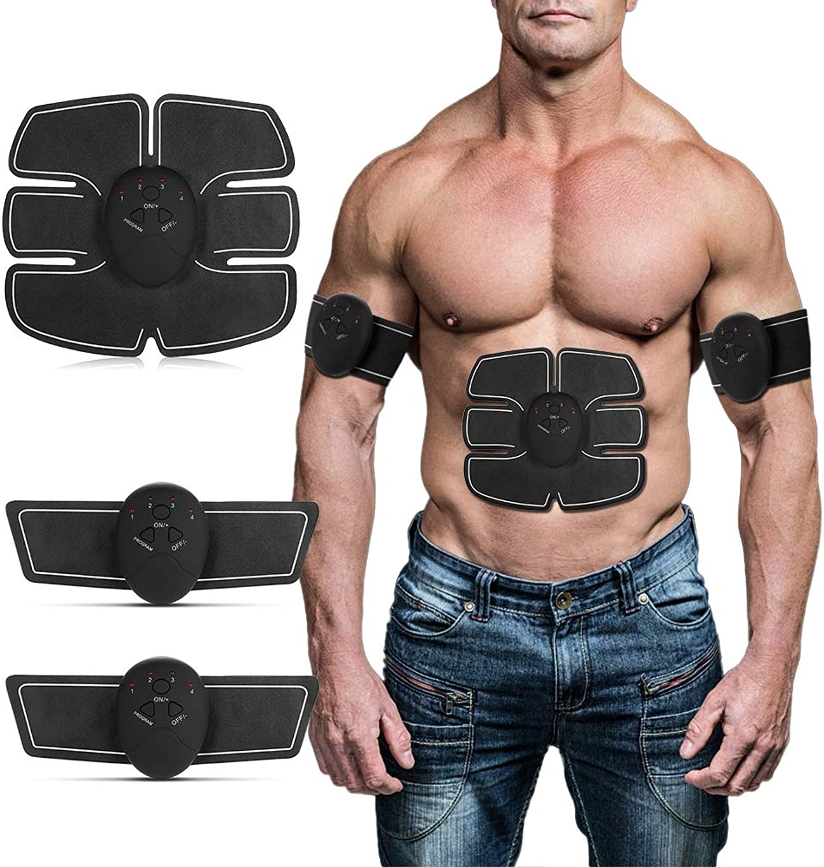 Abdominal Stimulator, Muscle Stimulator Fitness Trainer Toning Belt for Abdomen Arms Legs, Home Office & Gym Equipment for Men & Women